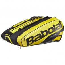 Теннисная сумка для ракеток Babolat Pure Aero X12 черно-желтая (Уточняйте наличие)